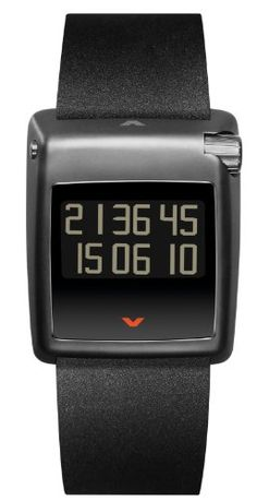Ventura Men's V-Tec Kappa Black Ip Titanox Case Black Caoutchouc Strap Watch W 23.02 R1