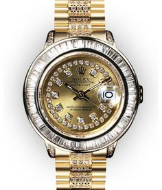 <3 Love this rolex. Solid gold with diamond bracelet, gromits, bezel, and dial my guess is it's probably about $150k since the solid gold president usually retails around 30k without any diamonds.