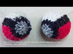 Rainbow Loom Pokeball with english subtitle - Lachtaeubchen Loom Rubber Band Crafts, Rubber Bands, Teen Boys, Tween, Rainbow Loom Tutorials, Loom Bands, Crochet Earrings, English, 3d