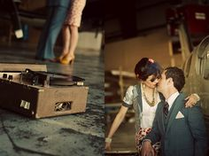 Love these vintage accessories in a shoot