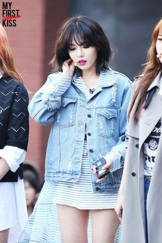 Hyuna's (4minute) short hairstyle
