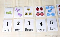 Match & Count Free Printable Number Cards 1-10