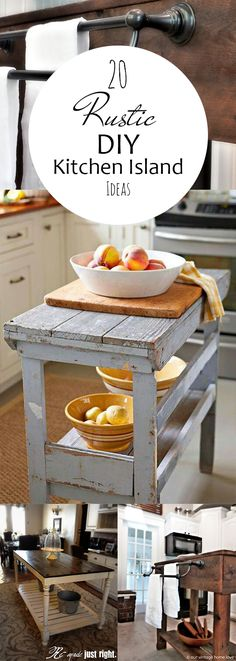 20 Rustic DIY Kitchen Island Ideas - Page 23 of 23 - Pickled Barrel