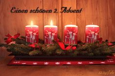 toepferlaedchen-montabaur: a beautiful advent - Feliz Natal 1609 Christmas Greeting Cards, Christmas Wishes, Kids Christmas, Vintage Christmas, Merry Christmas, Advent Candles, Pillar Candles, Third Sunday Of Advent, 1 Advent