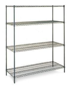 Olympic 14 in. Deep Starter Unit - Green [ID Olympic wire shelving made of carbon-steel will exceed all your storage needs. 54 to 72 in. capacity per shelf. 24 to 48 in. Wire Shelving Units, Shelving Racks, Industrial Shelving, Wire Shelves, Garage Storage, Storage Spaces, Storage Area, Food Storage, Store Fixtures