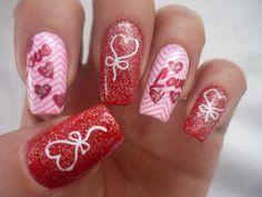 De Nailsvanidosas:  Celebrando amor y amistad. #nail #nails #nailart