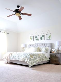 """Beautiful master bedroom makeover!  It does not even  look like the same room from """"before""""! #worldmarkettribe #ad"""