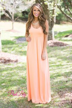 The Thought Of You Maxi Peach - The Pink Lily