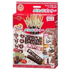 This is a kit that stacks multiple Pocky sticks, wraps them in chocolate and adds a message.