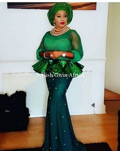 Must See Fabulous Aso Ebi Styles You've Never Seen Before - Wedding Digest Naija Nigerian Lace Styles, African Lace Styles, African Lace Dresses, Latest African Fashion Dresses, African Dresses For Women, African Attire, African Wear, African Women, African Beauty
