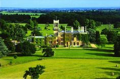 Helicopter View of The Mansion House wedding venue in Bedfordshire