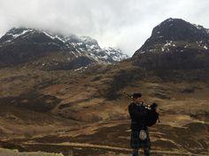 Bagpiper in Glencoe