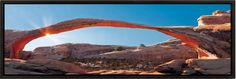 """Arches National Park Framed Photography Print Panoramic Photography Modern Wall Art - 20x60"""" Framed Panoramic Photography Print - Printed on high quality vinyl, mounted to 1"""" thick frame - Easy to han"""