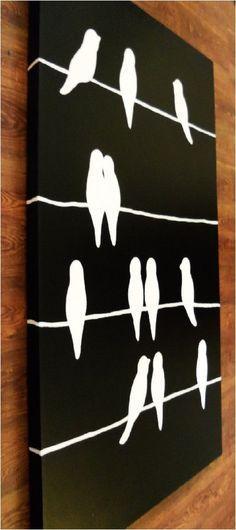 Pájaros en las cuerdas