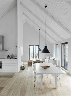 Wide open spaces...high ceilings are rarely a bad idea.