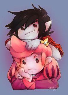 Gumlee Adventure Time. Marshall Lee and Prince Gumball.