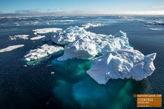 Icebergs Floating by in Greenland