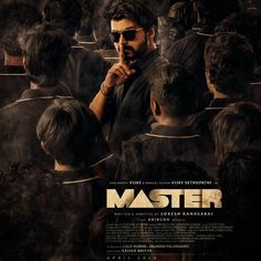 Master is an upcoming 2020 Indian Tamil-language action thriller film written and directed by Lokesh Kanagaraj and produced by Xavier Britto under the banner XB Film Creators, the companys first production. Action Movie Stars, Action Movies, Actor Picture, Actor Photo, Tamil Movies, Hindi Movies, Movies To Watch, Good Movies, Movies Free