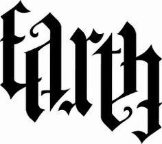 Earth ambigram, based on design by John Langdon . Tattoo Word Fonts, Word Tattoos, Body Art Tattoos, Tatoos, Calligraphy Tattoo, Illuminati, Ambigramm Tattoo, Anagram Words, Earth Air Fire Water