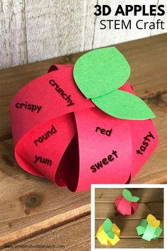 Looking for a fun fall art activity you can do with your kids at home or at art class in school? A simple 3D apple craft that you can create with basic items that you have at home. Get ready to spend time creating with basic art projects.