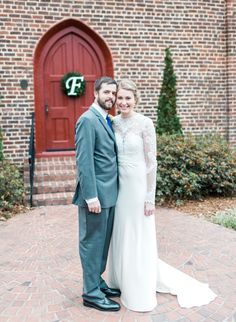 Love this photo outside of the church from the Fox/Blackwelder Wedding! Photo Credit: Emma Loo Photography