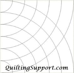 Free Close Intersecting Half Curves Line Quilting
