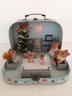 Sylvanian Families Christmas House. For more lovely ideas take a look at my Facebook page www.facebook.com/thehoppingrobin