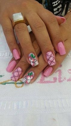 The 100 Trending Early Spring Nails Art Designs And colors are so perfect for Hope they can inspire you and read the article to get the gallery. Spring Nail Art, Spring Nails, Spring Art, Fingernail Designs, Nail Art Designs, Fancy Nails, Pretty Nails, Flower Nail Art, Fabulous Nails