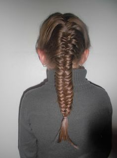 fishtail braid A dramatic look in the front and in the back