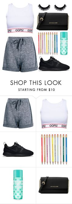 """""""my mind's like a deadly disease"""" by thatemo-anons ❤ liked on Polyvore featuring Boohoo, NIKE and Michael Kors"""
