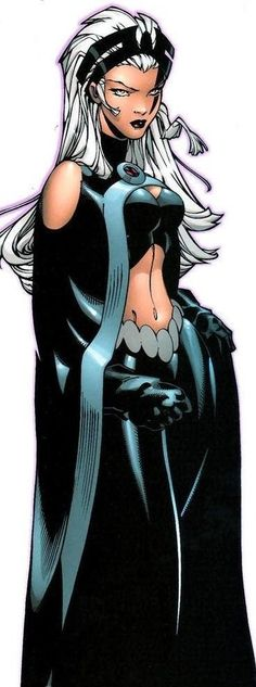 """Storm (Ororo Munroe) is a fictional superhero appearing in the Marvel Comics universe. Created by Len Wein and Dave Cockrum, and first appearing in Giant-Size X-Men #1 1975. Storm is a member of a subspecies of humanity known as """"mutants,"""" who are born with superhuman abilities. She is as a longtime member and sometimes leader of the X-Men, a group of mutant heroes who fight for peace and equality between mutants and humans. Storm is also the former queen consort of Wakanda, a title once…"""