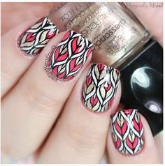 reverse Stamping Nail art with beautiful colors combo item ID: 17921 photo is from @magicallypolished #nurbesten #waterdecals #nailart #nagelkunst #nails2inspire #nailpolish #notd #nails #nailstagram #bornprettystore #nailswatches #nailwraps #essie #beauty #essielook