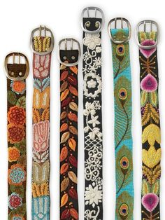 wool wildflower embroidery belt