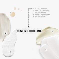 Achieve beautifully glowing skin overnight with our below festive routine: 𝗣𝗠 𝗿𝗼𝘂𝘁𝗶𝗻𝗲 (𝗻𝗶𝗴𝗵𝘁 𝗯𝗲𝗳𝗼𝗿𝗲): 1. E.X.F.O. cleanse 2. VITA C concentrated corrective serum 3. VITA C bright overnight mask (sleep with it on) 𝗔𝗠 𝗿𝗼𝘂𝘁𝗶𝗻𝗲 (𝗻𝗲𝘅𝘁 𝗱𝗮𝘆): 1. E.X.F.O. cleanse 2. M.E.L.A. recovery 3. POINT age reverse 4. Finish off with your preferred C.C. cream or compact foundation. #pHformula #skincare #skinresurfacing #skincareroutine #holidayroutine #glowingskin Compact Foundation, Skin Resurfacing, Overnight Mask, Am Pm, Glowing Skin, Cleanse, Recovery, Serum, Festive