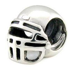 Silver Ohm American Football Bead, $30.00