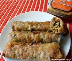 Sajgonki • Sprawdzone przepisy • Domowe Potrawy Chow Mein, Spring Rolls, Dumplings, Ketchup, Sushi, Catering, Sausage, Food And Drink, Tasty