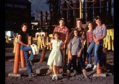 The cast of Footloose, 1984