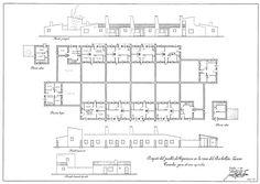 [Fig. 2] Planimetría de  vivienda para obrero de Vegaviana. Fuente: imagen cedida por Rafael Fernández del Amo. Señala encima de la imagen para verla más grande.
