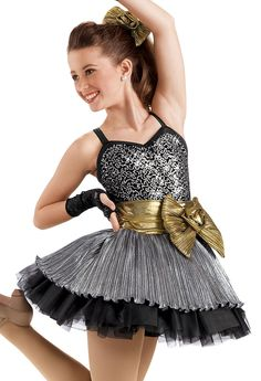 this is cute! Sequin Pleated Skirt Party Dress -Weissman Costume