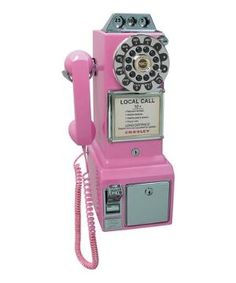 Pink 1950s Pay Phone $54.99 by Zulily