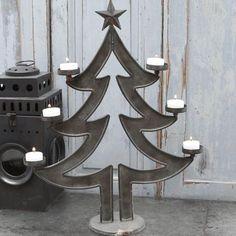 Chic Antique: Świecznik metalowy choinka