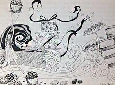Brigadeiro - Moleskine - caneta fine line #tapiocacomlimao #arte #ilustração #design #desenho