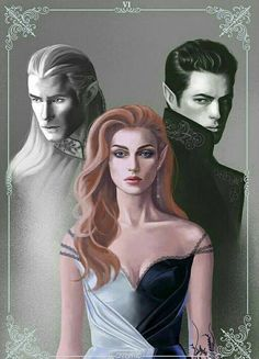 Tamlin, Feyre and Rhysand