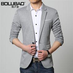 d896c1de4b6e 2016 New Fashion Casual Men Blazer Cotton Slim Korea Style Suit Blaser  Masculino Male Suits Jacket