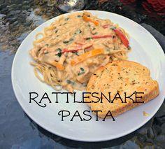 Rattlesnake Pasta {with no snakes I promise!}