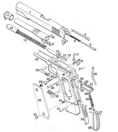 1911/2011 Individual Parts with Schematic