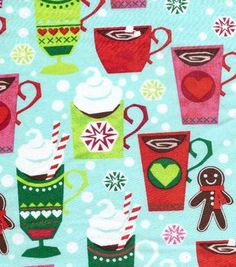 holiday inspirations christmas fabric hot cocoa christmas fleece online craft store craft stores christmas