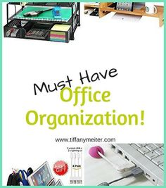 Sick andsick and tired with seeing your grey desk, chair or cabinet inside your office cubicle? While many of today's office spaces now sport ergonomi... Office Spaces, Home Office Desks, Office Desk Organization, File Cabinet Desk, Office Cubicle, Plastic Drawers, Grey Desk, L Shaped Desk, Organizing Your Home