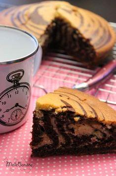 Gâteau marbré à l'huile de coco et chocolat
