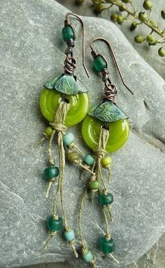 Earrings Everyday Little Green Things by Keirsten Giles